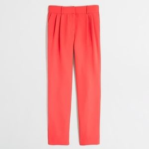 J. Crew coral pleated ankle pants